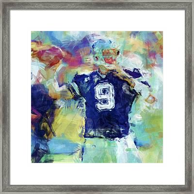 Tony Romo Abstract 1 Framed Print by David G Paul