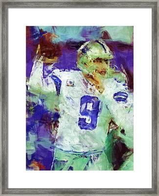 Tony Romo Abstract 2 Framed Print by David G Paul