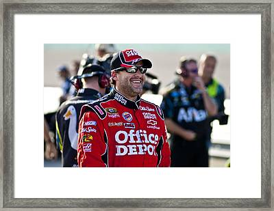 Tony Smiles Framed Print by Kevin Cable