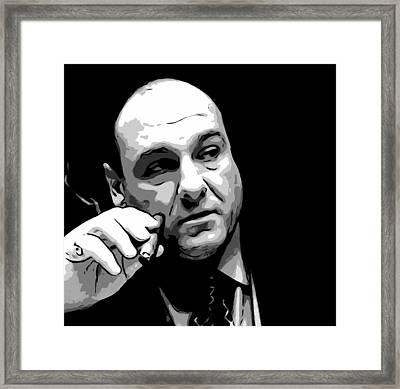 Tony Soprano Framed Print