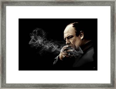 Tony Soprano Framed Print by Laurence Adamson
