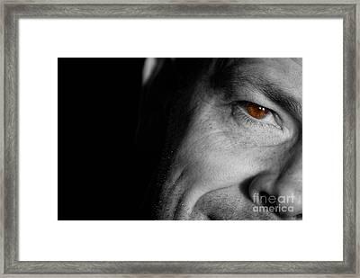 Tony Staring Framed Print by Antony McAulay