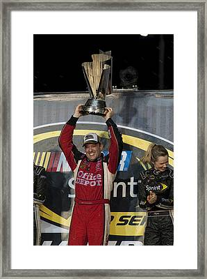 Tony Stewart Cup Champ 3 Framed Print