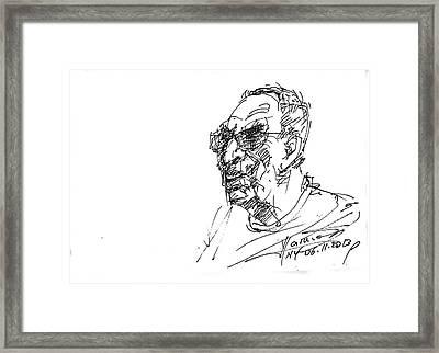 Tony Framed Print by Ylli Haruni