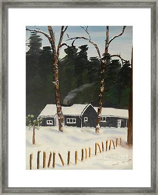 Tonys House In Sweden Framed Print by Pamela  Meredith