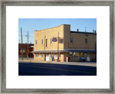 Tony's Ice Cream Framed Print