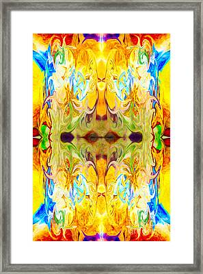Tony's Tower Abstract Pattern Artwork By Tony Witkowski Framed Print by Omaste Witkowski