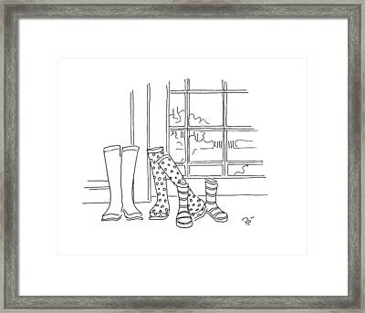 Too Big For Your Boots Framed Print by Roisin O Farrell