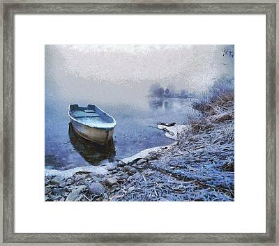 Too Cold For A Boat Trip Framed Print by Gun Legler
