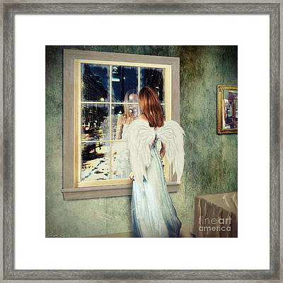 Too Cold For Angels Framed Print