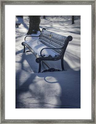 Too Cold To Contemplate Framed Print