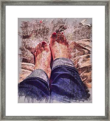 Too Comfortable Framed Print by Maria Carpio