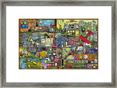 Too Loud Framed Print by Colin Thompson