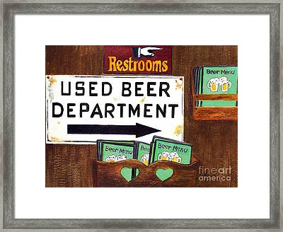 Framed Print featuring the painting Too Many Suds by Karen Fleschler