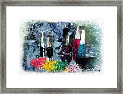 Too Much Makeup Framed Print