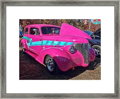 Too Pink Framed Print