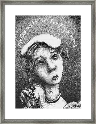 Too Sensitive For This World Framed Print by Louis Gleason