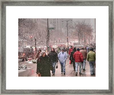 Too Soon The Snow Framed Print by David Bearden