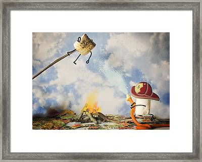 Too Toasted Framed Print by Heather Applegate