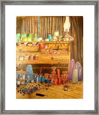 Tool Chest With Thimbles Framed Print by Joseph Hawkins