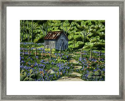 Tool Shed Framed Print by Robert Thornton