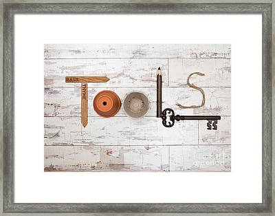 Tools Framed Print by Amanda Elwell