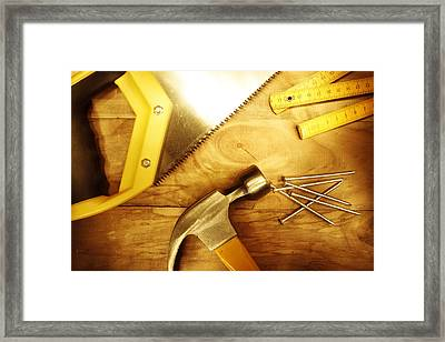 Tools Framed Print by Les Cunliffe