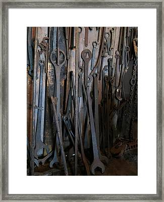 Tools Of The Roundhouse Framed Print