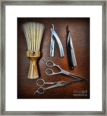 Tools Of The Trade - Barber Framed Print by Lee Dos Santos