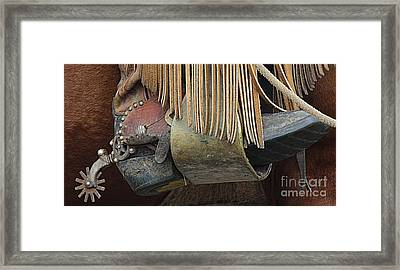 Framed Print featuring the photograph Tools Of The Trade by Ann E Robson