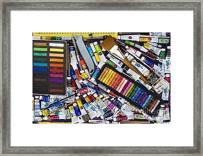 Tools Of The Trade Framed Print by Tim Gainey