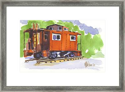 Toot Toot Framed Print by Kip DeVore