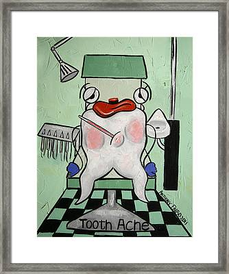 Tooth Ache Framed Print by Anthony Falbo