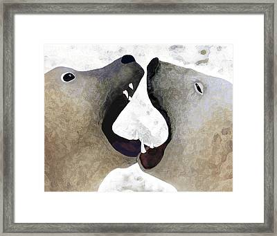 Toothy Bears Framed Print