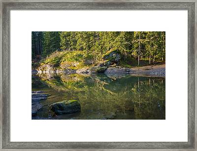 Top Bridge  Framed Print by Carrie Cole