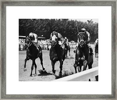 Top Colonel Horse Racing Vintage Framed Print by Retro Images Archive