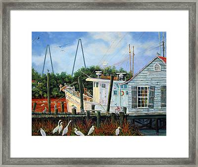 Top Dog Shrimper - At Rest Framed Print