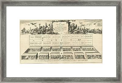 Top Floor Of Noahs Ark, Jan Luyken, Wilhelmus Goeree Framed Print by Jan Luyken And Wilhelmus Goeree (i)