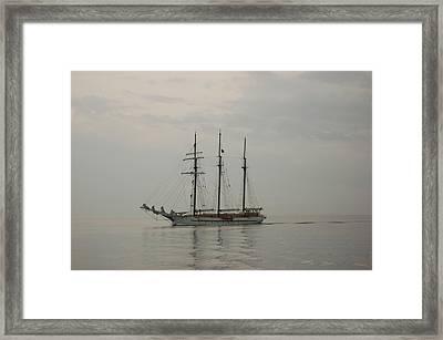 Topsail Schooner Mystic Framed Print