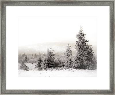 Top Of Canaan In Winter Framed Print by Shane Holsclaw