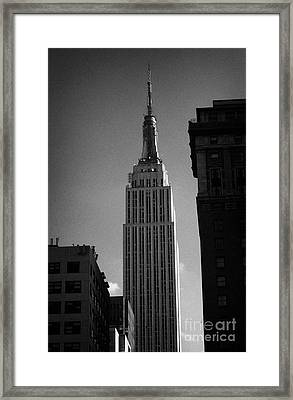 Top Of Empire State Building Manhattan New York City Framed Print