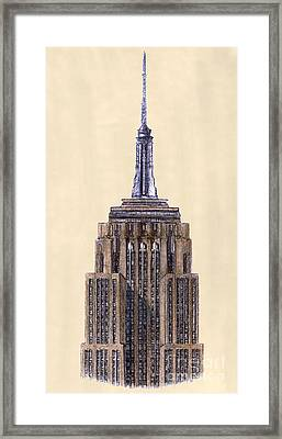 Top Of Empire State Building New York City Framed Print by Gerald Blaikie