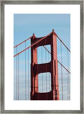 Top Of Golden Gate Bridge Framed Print