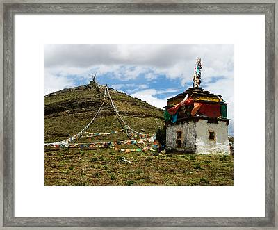 Top Of Hill Framed Print by James Wheeler