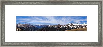 Top Of Independence Pass Panorama Framed Print by Dan Sproul