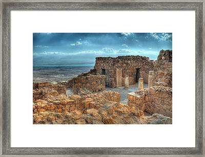 Top Of Masada Framed Print