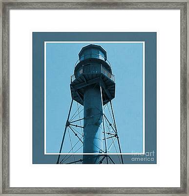 Framed Print featuring the photograph Top Of Sanibel Island Lighthouse by Janette Boyd
