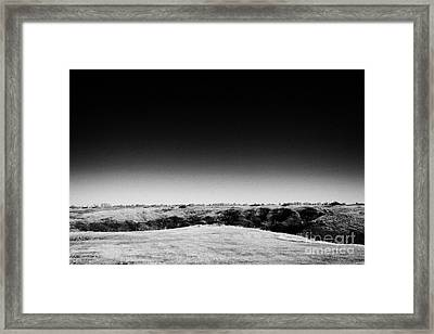 top of the buffalo jump Wanuskewin heritage park saskatoon Saskatchewan Canada Framed Print by Joe Fox