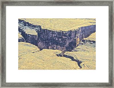 Above The Canyon Top   Framed Print by Jim Ellis