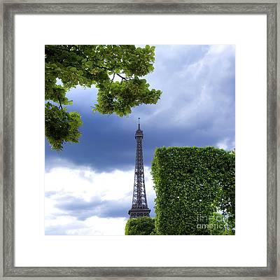 Top Of The Eiffel Tower. Paris. France. Framed Print by Bernard Jaubert